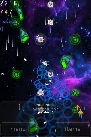 Screenshot iDodge: Space Ninja Review
